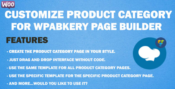 Customize Product Category for WPBakery Page Builder