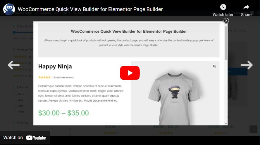 WooCommerce Quick View Builder para Elementor Page Builder - 7